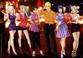 Commission: Happy Birthday Naruto by Amenoosa