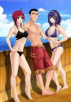Commission: Summer fun by Amenoosa
