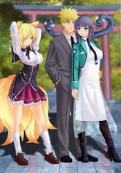 Commission Naruto x Miyuki x Kuno by Amenoosa
