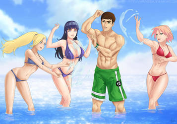 Commission: Fun in the water by Amenoosa