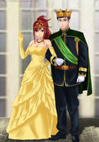 Commission: Ben x Erza - King and Queen of Fiore by Amenoosa