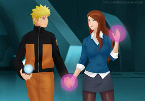 Commission: Naruto x Gwen by Amenoosa