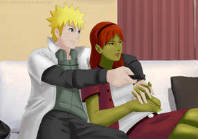 Commission: Naruto x Megan - Relaxing and watching by Amenoosa