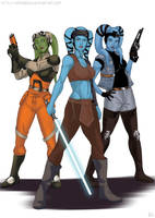 Star wars - My favorite twi'leks by Amenoosa