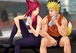 Commission Naruto x Xayah by Amenoosa