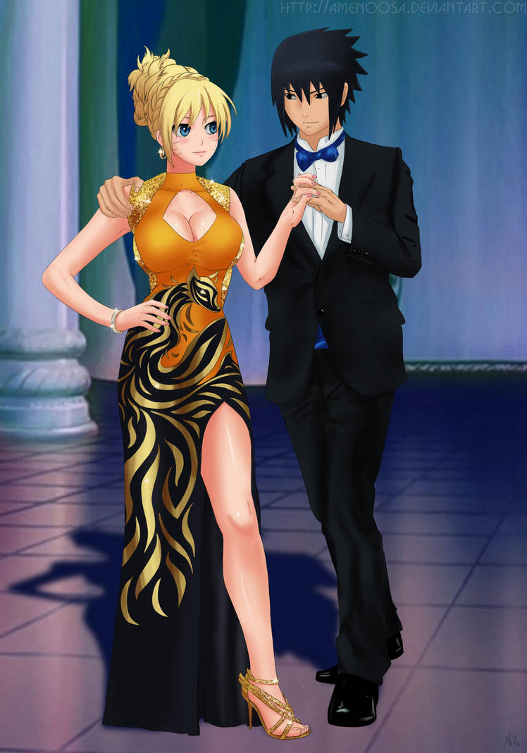 Commission: Naruko x Sasuke - night just begins by Amenoosa