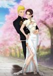 Commission: Naruto x Tenten - wedding by Amenoosa