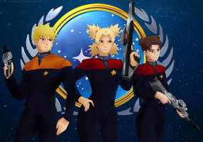 Commission: Starfleet officers by Amenoosa
