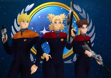 Commission: Starfleet officers by Amenoosa
