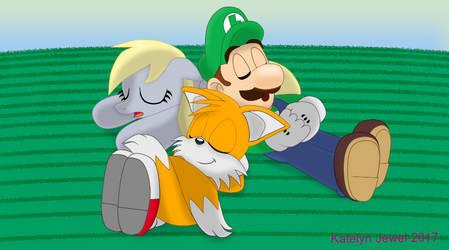 Sidekick Trio Taking a Nap by PPG-Katelyn