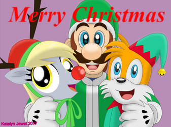 Merry Christmas From the Sidekick Trio by PPG-Katelyn