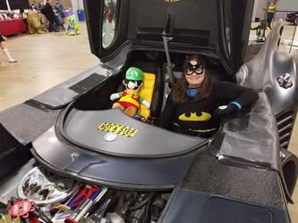 Luigi and Batgirl in the Hope Mobile by PPG-Katelyn
