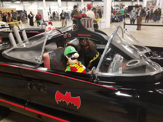 Luigi and Batgirl in the '60s Batmobile 1 by PPG-Katelyn