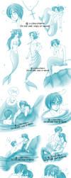 APH - Sketchdump - The Little Merman 3 by x-Lilou-chan-x