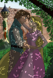 flynn  and rapunzel by gab9482