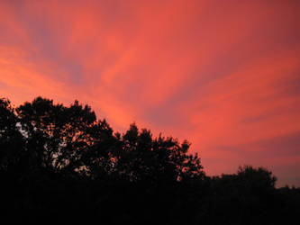 A Red Sunset by Forbearnan