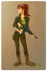 A Danger Girl by ivancash