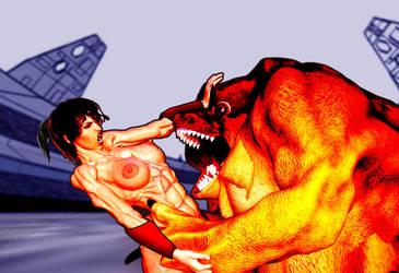 Sylva the Savage n. 6 Beauty vs Beasts comicscene by SavageSylva