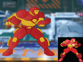 Adobe Illustrator: Iron Man MSH Sprite Recreation by Zacmariozero