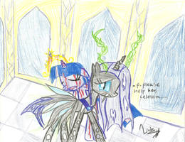 Princess chrysalis rescues Twilight Sparkle by PinkamenaRocksCute13