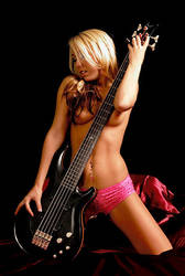 girl and guitar 2 by d0gring