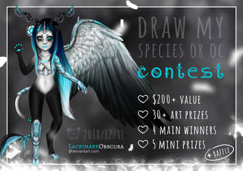 Draw Species or OC Contest (OPEN) $200+ value by LacrimareObscura