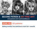 Patreon Goal 2 (OPEN) by LacrimareObscura