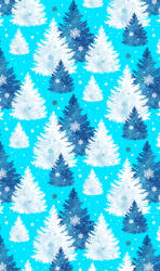 Snowy Trees (free custom box background) by LacrimareObscura