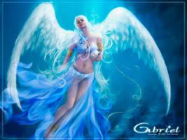 Gabriel --- resting Wallpaper by real4fantasy
