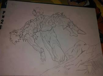 Futur Gohan Death T-T (sketch) by Wyf4r