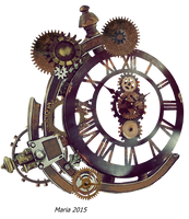 Steampunk Clock Stock Photo by MariaRaute2