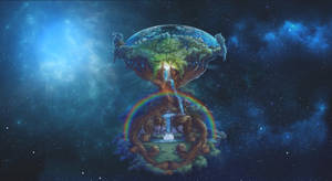 Floating Tree in the Universe by spiritualfeel