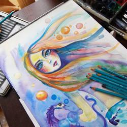 mermaid by bemain