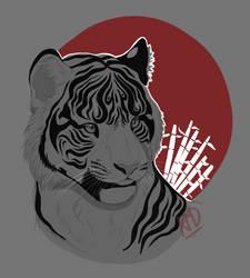 Inktober/Orientober. Tiger by AtomicMilkshake