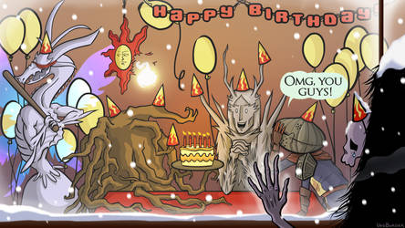 Dark Souls Birthday Party by VoidBurger