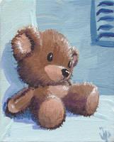 Teeny Teddy Bear by JoopaDoops