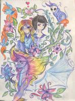[Gift art] My love blossoms  by Phoenix-Kristin