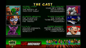 Rampage World Tour : Idle Screen 2 - The Cast by DarthArchanist