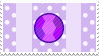 amethyst gem stamp by opalnet
