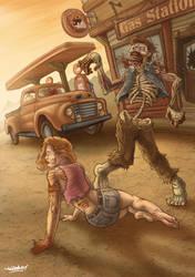 RockaBilly Zombie Superstar Fan Art by TWOFLAG