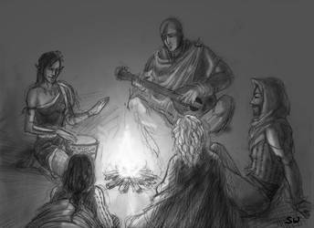 Campfire by Observateur