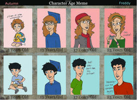 Age Meme: Aud and Freddy by CelestialTeez