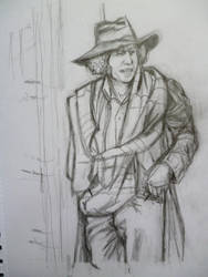 THE FOURTH DOCTOR-TOM BAKER by seanwaterfield