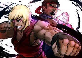 Violent Ken  VS  Evil Ryu by Kumsmkii