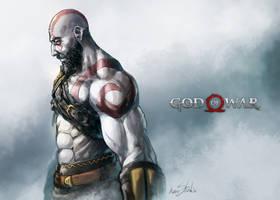 God of War : Kratos by Kumsmkii