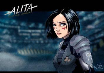 alita battle angel by Kumsmkii