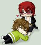 .: Yuki cuddles :. by SapphireItrenore