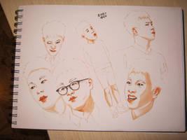 p.o sketches by desh93