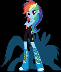 MLP EQG Rainbow Dash Alternate Design by Duelboy12