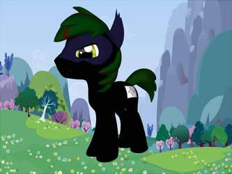 MLP OC: Shinobi Black by Duelboy12
